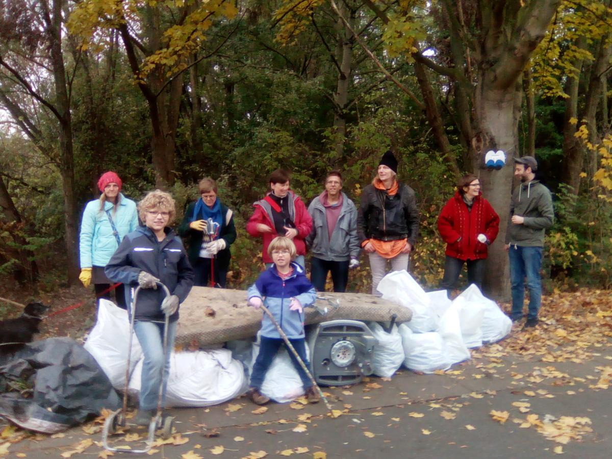 Unsere Aktion: Erfolgreich Müll gesammelt